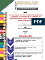 Redes Sociales y Rendimiento Académico 2017.