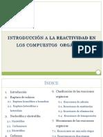 Introduccion a Reactiidad en Compuestos Organicos