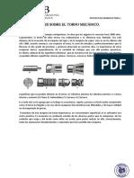 Generalidades Sobre El Torno Mecánico