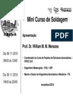 Mini Curso Soldagem 2016