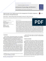 Laparoscopy versus laparotomy in the management of ectopic pregnancy with massive hemoperitoneum