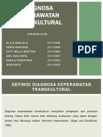 DIAGNOSA KEPERAWATAN TRANSKULTURAL