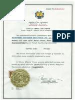Insurance License Certificate