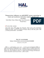 Temperature Influence on PH ISFET Sensor