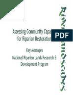 Assessing Community Capacity Riparian Restoration