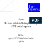 AISI Design Methods for Sheathing Braced Design