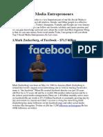 Top 5 Social Media Entrepreneurs