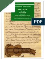 Explicación de la guitarra 1773 Juan Antonio de Vargas y Guzmán