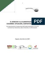 El Derecho a La Alimentacion en Colombia