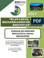 Plan de Recuperacion Ugel Bolognesi