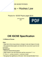 CIE IGCSE Forces Hookes Law Only
