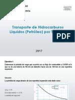Transporte de Hidrocarburos Líquidos Por Tuberías II - Ejercicios (22.09.17) - I