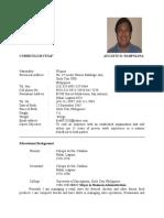 Augusto Pampolina Resume 2