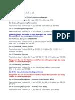 Class Schedule Opmgmt301