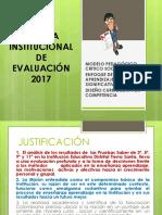Sistema Institucional de Evaluacion Ajustes