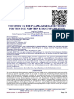 THE STUDY ON THE PLASMA GENERATOR THEORY FOR THIN DISC AND THIN RING CONFIGURATION
