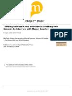 Pensando Entre China y Grecia