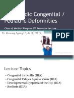 09. C. Orthopedic Congenital Pediatric Deformities