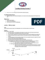 kicking coaching session 5