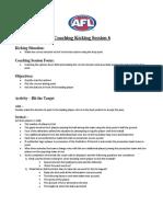 kicking coaching session 6