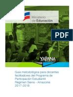 Guía Metodológica Para Docentes Facilitadores Del PPE. Régimen Sierra-Amazonía 2017-2018