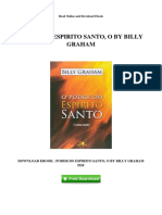 Poder Do Espirito Santo o by Billy Graham