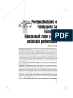 BALL. Performatividade e Fabricações Na Economia Educacional.