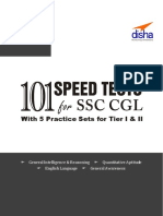 SSC Combined Graduate Level (Tier I & Tier II) Exam 101 Speed Tests With 5 Practice Sets 2nd Edition