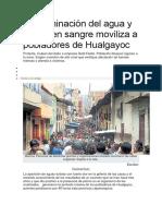 Contaminación Del Agua y Plomo en Sangre Moviliza a Pobladores de Hualgayoc