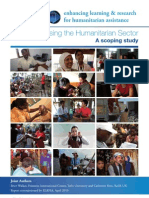 Professionalising the Humanitarian Sector
