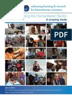 Professionalising the Humanitarian Sector