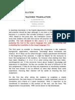 (Jurnal) Teaching Translation