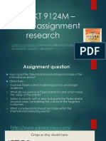 Undertaking 1st assignment research for postgraduate marketing students