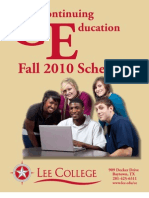 Fall 2010 CE Schedule