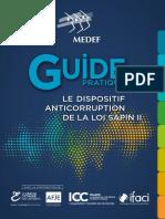 Guide de bonnes pratiques destiné aux entreprises pour l'application du volet anti-corruption de la Loi Sapin II