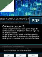 Les six canaux de profit des Experts.pptx