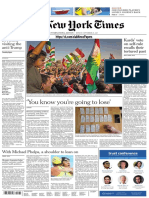 International New York Times 25 September 2017