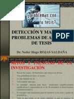 DETECCIÓN Y MANEJO DE PROBLEMAS DE ASESORÍA DE TESIS.ppt