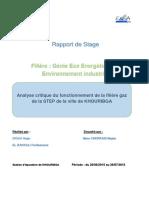 Rapport de Stage HAJAR ET FERDAOUSS-Echangeur_2015-Khouribga Cogeneration