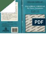 Diccionario de Palabras Griegas, Barclay
