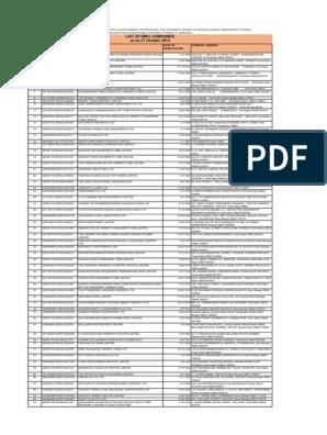 Nbfc_Companies pdf | Kolkata | Tamil Nadu