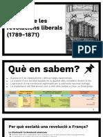 4º de ESO. Tema 2. L'Època de Les Revolucions Liberals (1789-1871) (incompleto)