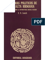 LEACH, Edmund R. (1996) Sistemas Políticos Da Alta Birmânia. São Paulo EDUSP.