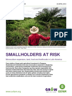 ENVIRONMENTAL SCIENCE Smallholders at Risk Monoculture Expansion Land Food and Livelihoods in Latin America