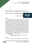 Crisorio, R. Homero y Platón_ Dos Paradigmas de La Educación Corporal