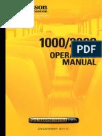 1000 2000 Operators Manual