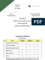 Planificare Dirigentie Clasa a 8-a