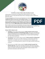 20100818 Public Safety Fact Sheet