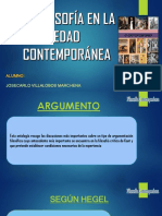 La Filosofía en La Edad Contemporánea