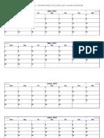 2016- Calendário Pequeno